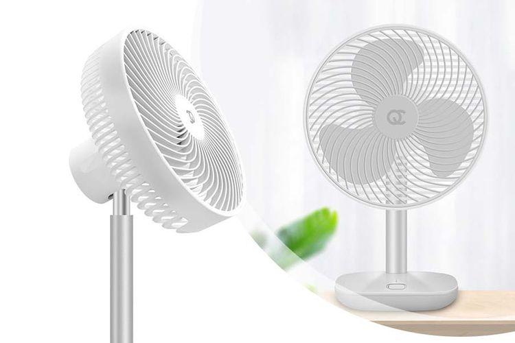 Draadloze bureau ventilator (kleur: wit)