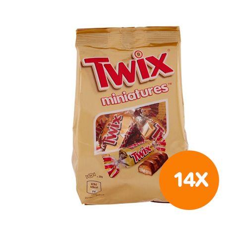 SlaJeSlag 14 zakjes mini-Twix
