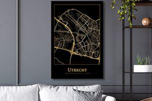 Stad op canvasdoek (60 x 90 cm)