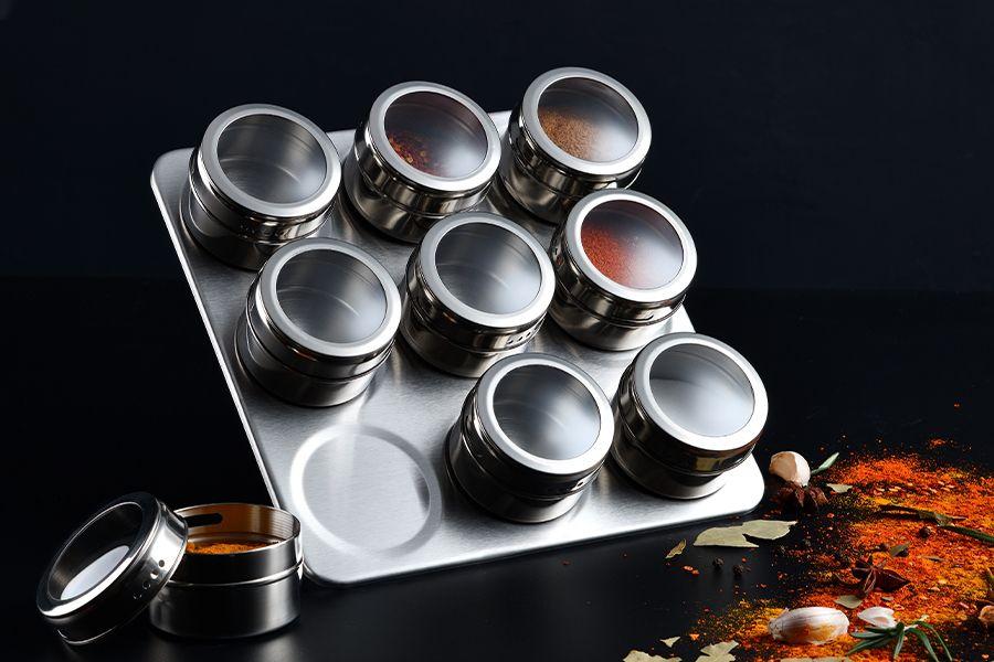 Kruidenrek met 9 opbergpotjes van Masterpro