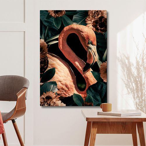 Foto Flamingo's op canvas