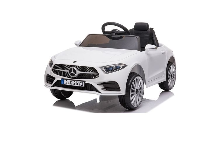 Elektrische kinderauto van Mercedes (wit)
