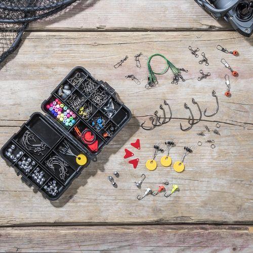 Compacte 187-delige vis-accessoires box