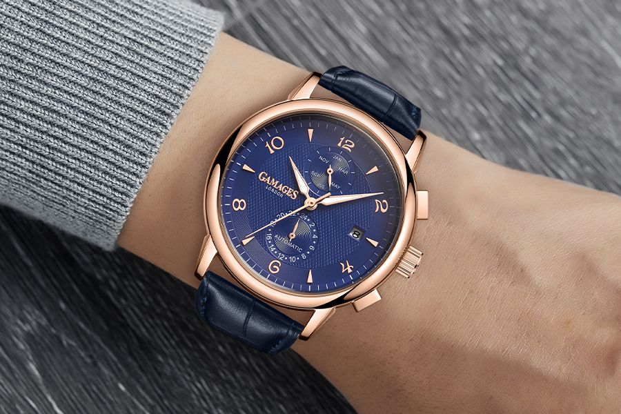 Mystique Automatic Blue herenhorloge van GAMAGES
