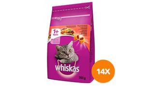 Rund maaltijdzakjes van Whiskas (14 stuks)