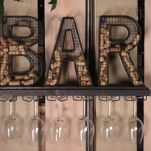 Wijnglazenhouder voor 6 glazen (65,5 x 13 x 36 cm)