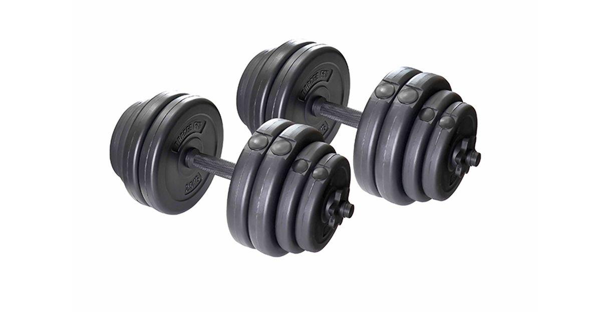 Haltères réglables Orange Gym (2 x 15 kg)