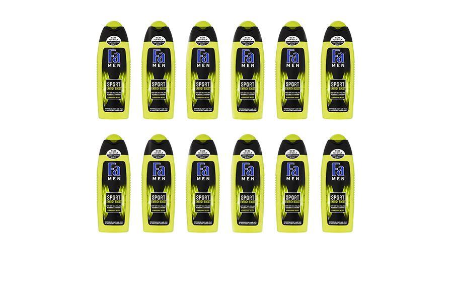 12 flessen FA showergel Sport Double Power Boost