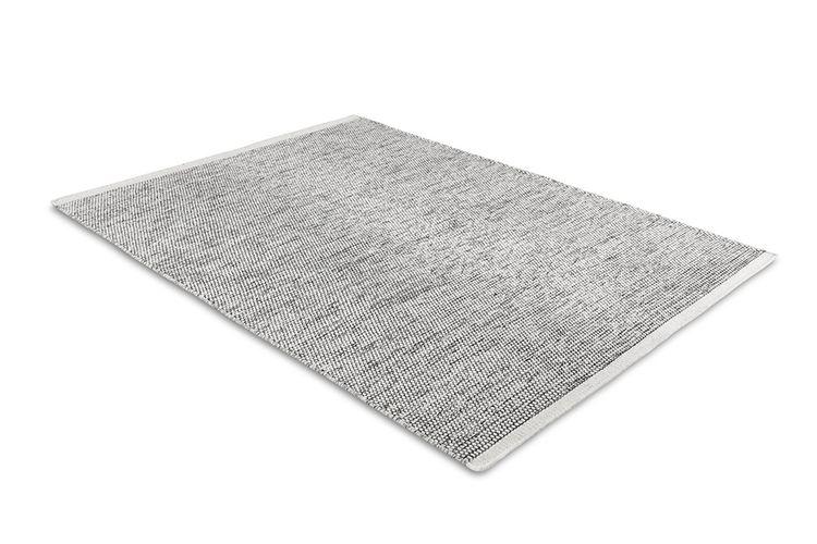 Zwart-wit vloerkleed van wol (170 x 230 cm)