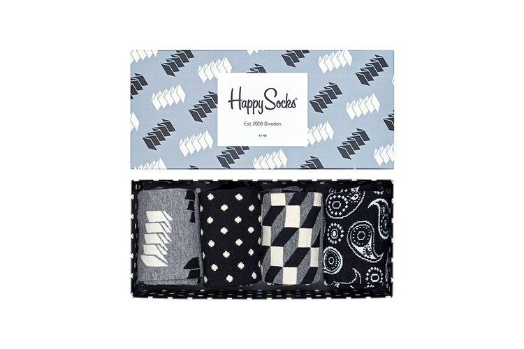 4 paar Happy Socks in cadeauverpakking (maat 41 - 46)