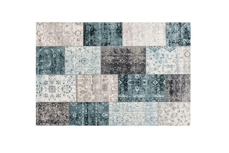 tapis patchwork gris fonce bleu tapis patchwork gris bleu 160 x 230 cm vavabid. Black Bedroom Furniture Sets. Home Design Ideas