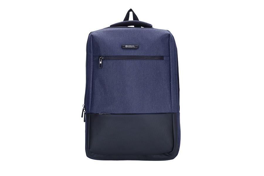 Blauwe rugtas met 15,6 inch laptopvak