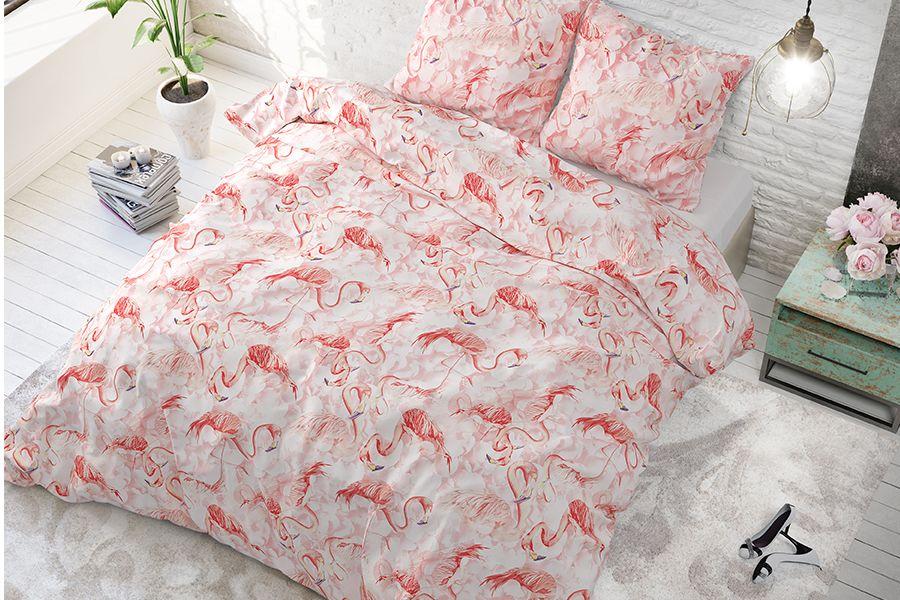 Dekbedovertrek Flamingo Rush (200 x 220 cm)