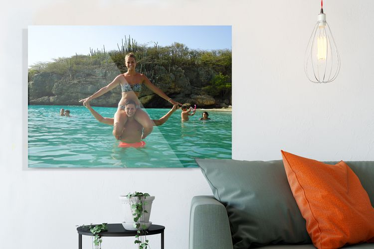 Jouw foto op glas (60 x 40 cm)