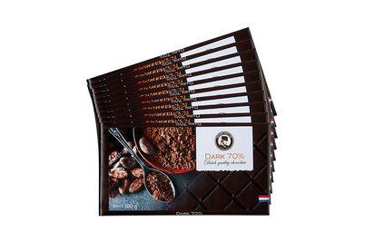 28 pure chocoladerepen van Henri Willig