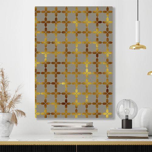 Chique patronen op canvas (60 x 90 cm)