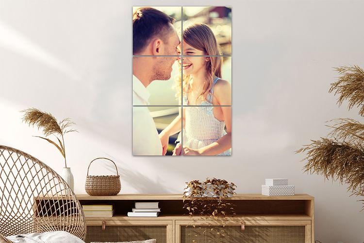 Jouw leukste foto op meerdere vierkanten (31 x 47 cm)