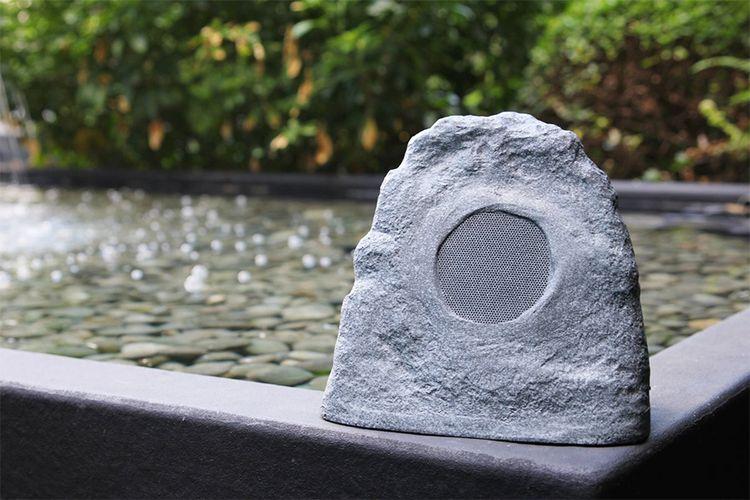 Spatwaterdichte bluetooth-speaker voor tuin en terras