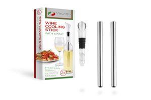 2 bâtonnets pour refroidir le vin et 1 bec verseur