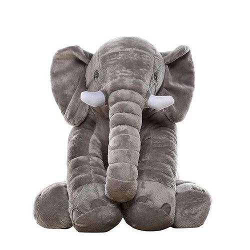 Grijze olifantenknuffel