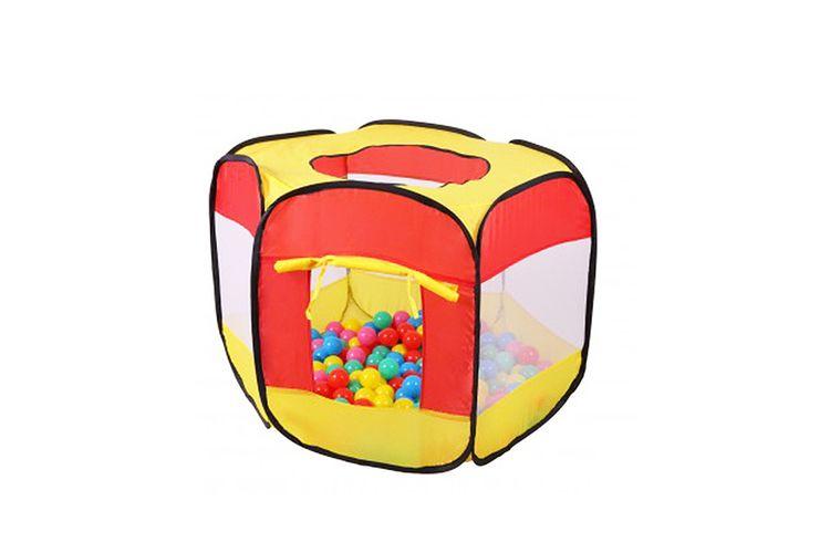 Speeltent met 100 gekleurde ballen (90 x 90 x 70 cm)