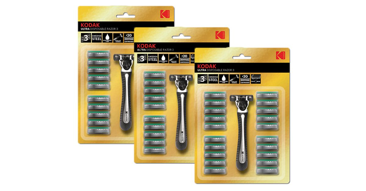 3 rasoirs + 60 lames de Kodak