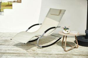 Beige schommelstoel van Feel Furniture