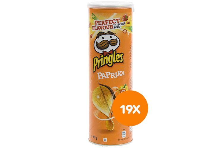 Korting 19 bussen Pringles Paprika