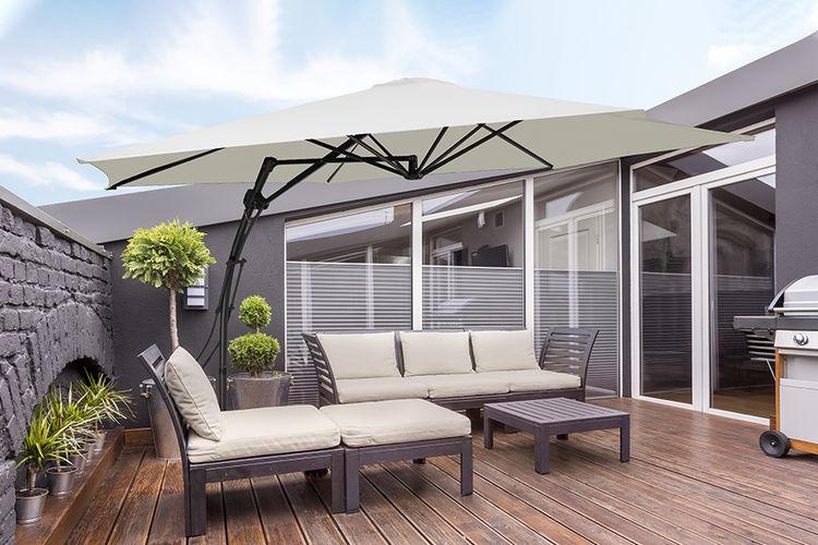 Cr�me zweefparasol van Feel Furniture (� 300cm)
