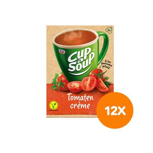 12 pakken tomaten cr�me-soep van Unox