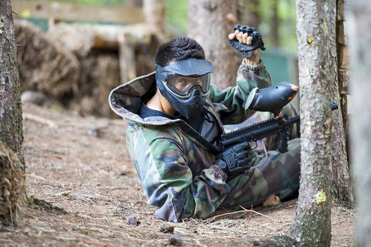 4 uur paintball met 6 tot 10 personen in Almere