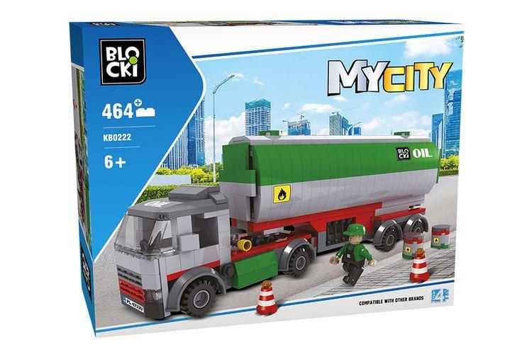 Tankwagen van Blocki-bouwstenen