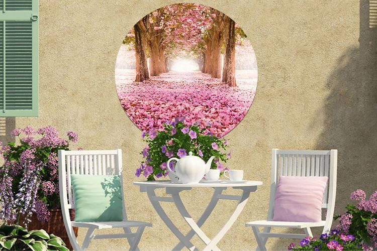 Je mooiste foto op een ronde tuinposter (80 cm)