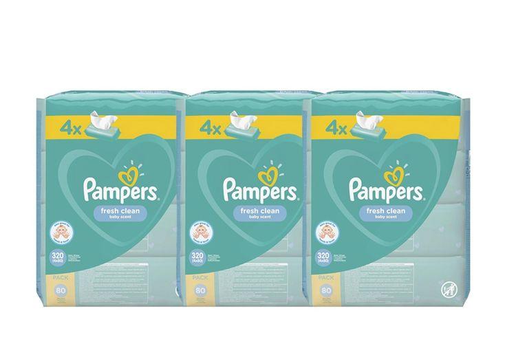 Fresh Clean babydoekjes van Pampers (12 x 80 stuks)