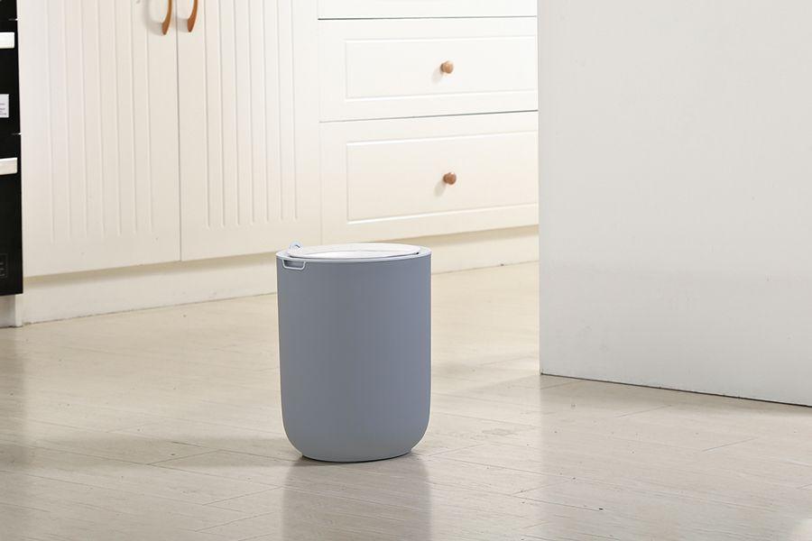 Grijze afvalbak met sensor (8 liter)