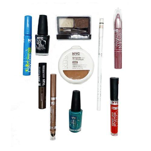 Beautypakket met 10 cosmeticaproducten van NYC Cosmetics