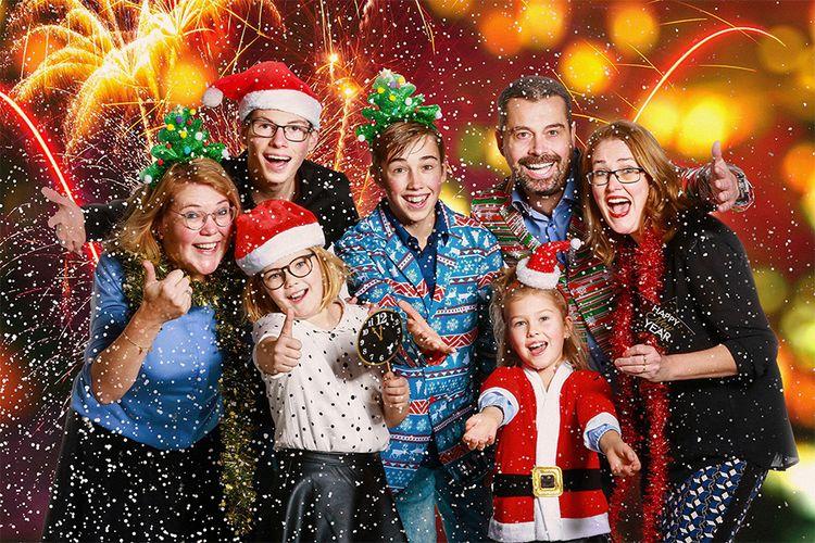 Korting Fotoshoot in kerststijl (2 tot 45 p.)