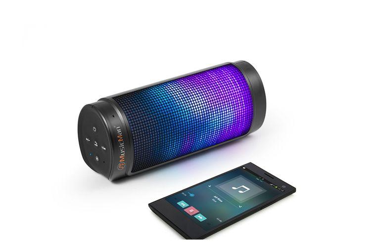 Speaker Met Licht : Led bluetooth speaker met kleuren licht van hyundai aanbieding