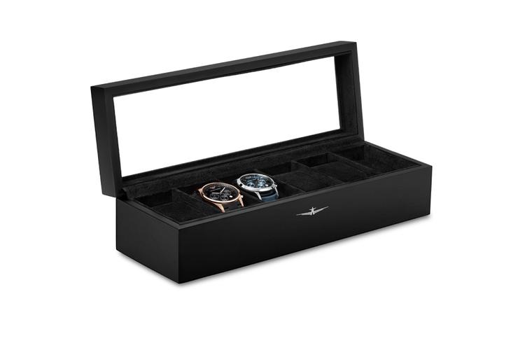boite a montres 6 montres bo te montres en bois pour 6 montres noir vavabid participez. Black Bedroom Furniture Sets. Home Design Ideas
