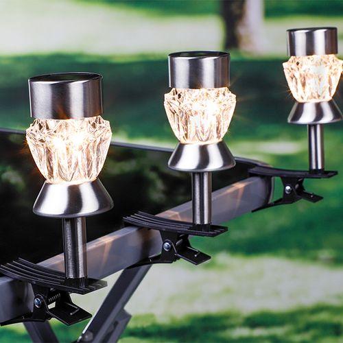 3 buitenlampjes met tafelklem