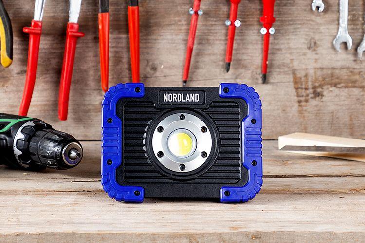 Oplaadbare LED-bouwlamp van Nordland