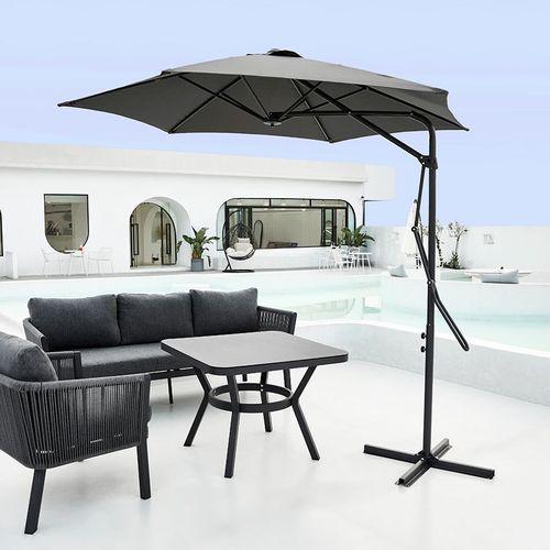 Donkergrijze zweefparasol van Feel Furniture (� 270cm)