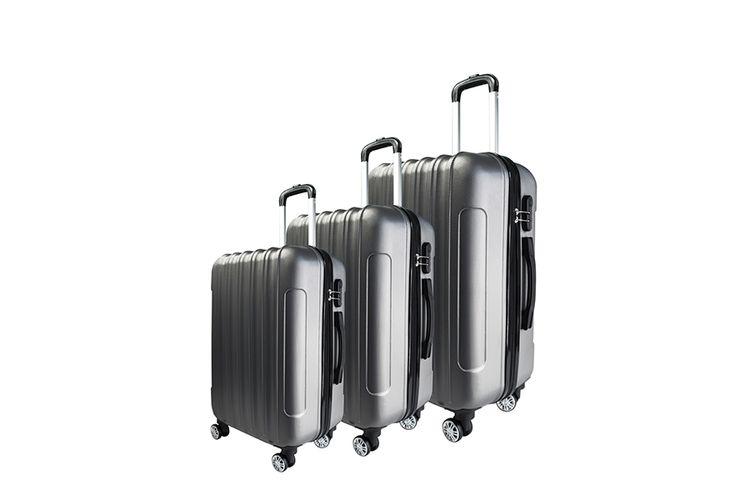 3-delige kofferset (zilver)