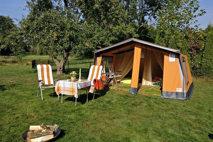 Weekend of midweek in een Freecamp huurtent (4 p.)