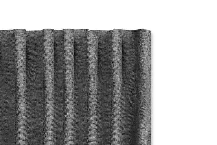 2 grijze geweven gordijnen met haken van Lifa Living